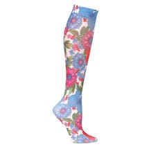 Printed Mild Compression Knee Highs - Flower Garden