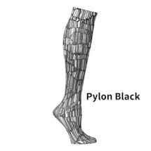 Printed Moderate Compression Knee Highs - Pylon Black
