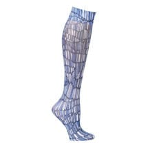 Printed Moderate Compression Knee Highs - Pylon Blue