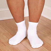 Non Binding Diabetic Friendly Quarter Crew Socks - Men's Basics