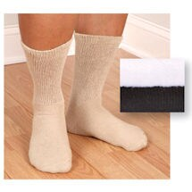 Non Binding Diabetic Friendly Crew Socks - Men's Basics