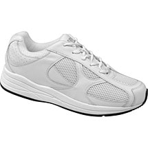 Drew® Surge Shoes for Men - White Leather/Nubuck/Mesh