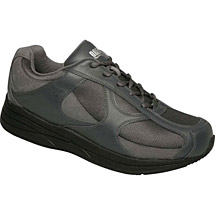 Drew® Surge Shoes for Men - Grey Leather/Nubuck/Mesh