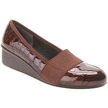 Ros Hommerson® Erica Slip-On - Brown Croc Patent Leather