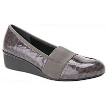 Ros Hommerson® Erica Slip-On - Grey Croc Patent Leather