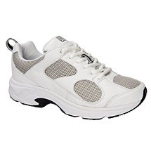 Drew® Flash II Women's Walking Shoes - White Leather/Gray Mesh