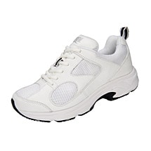 Drew® Flash II Women's Walking Shoes - White Leather/White Mesh