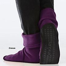 Janska® MocSocks® - Unisex Non Skid Fleece Slipper Socks - Crocus