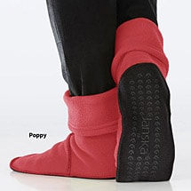 Janska® MocSocks® - Unisex Non Skid Fleece Slipper Socks - Poppy
