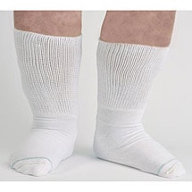 Unisex Extra Wide Calf Bariatric Diabetic Crew Socks
