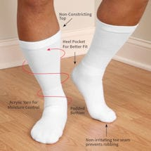 Support Plus® Diabetic Crew Socks