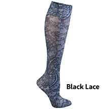 Wide Calf Printed Moderate Compression Knee Highs