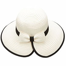 Brimmed Hat with Back Bow