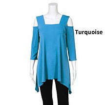 Slimming Travel Cold Shoulder Tunic Top