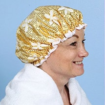 Sparkling Shower Cap Gold