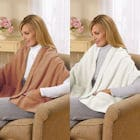 Fleece Shawl Kit Camel And Ivory