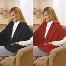 Fleece Shawl Kit Black And Red