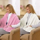 Fleece Shawl Kit Light Pink And Ivory