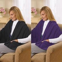 Fleece Shawl Kit Black And Purple