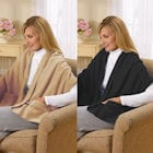 Fleece Shawl Kit Camel And Black