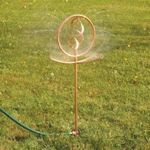 "Copper Decorative Spinning Garden Sprinkler 36"""