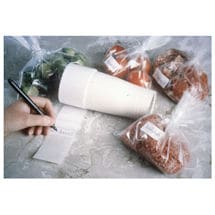 Adhesive Labels for Freezer Bags