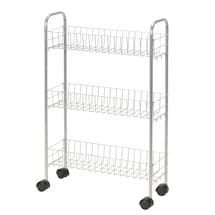 Slimline™ 3-Shelf Utility Cart - Silver