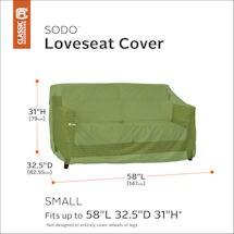 Patio Sofa/ Loveseat Cover- Sodo