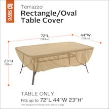 Rectangular/Oval Patio Table Cover- Terrazzo