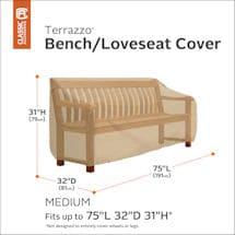 Patio Bench/ Loveseat Cover- Terrazzo