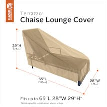 Chaise Lounge Cover- Terrazo
