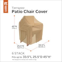 Stackable Patio Chair Cover- Terrazzo