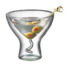 Double Wall Martini Glass