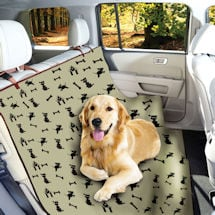 Waterproof Pet Seat Cover Dog Print