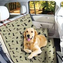 Waterproof Pet Seat Cover Dog Print
