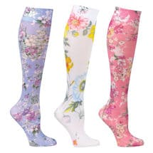 Mild Comp Wide Calf Floral 3 pair bundle