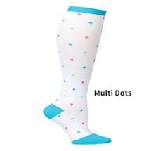 Fun Knit Mild Compression Socks, Wide Calf