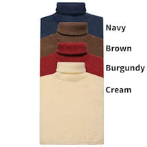 Turtleneck Dickies - 4 pack Navy/Brown/Burgundy/Cream