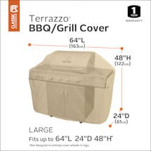 BBQ Grill Cover - Large- Terrazzo