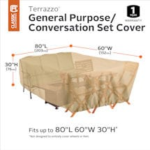 Patio Conversation Set Cover - Terrazzo