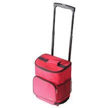 Insulated Ultra Compact Cooler Smart Cart - Red