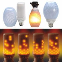 LED Flickering Flame Effect Light Bulb - Bottom Mount