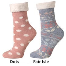 Cabin and Lounge Socks set of 2 Pink