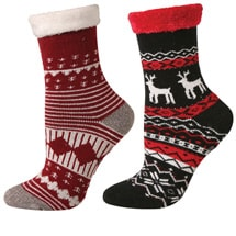 Cabin and Lounge Socks set of 2 Red