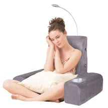 Carepeutic Backrest Bed Lounger w/Heated Comfort Massage Shiatsu
