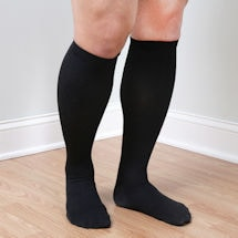 Support Plus® Men's Wide Calf Cotton Socks, Moderate Compression