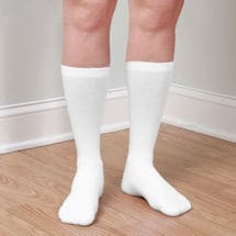 Support Plus® Coolmax Compression Socks Crew Moderate: White