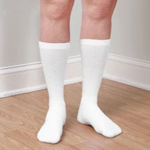Support Plus® Coolmax Compression Socks Crew Firm: White