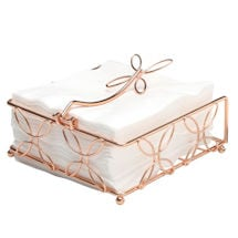 Bright Copper Horizontal Napkin Holder