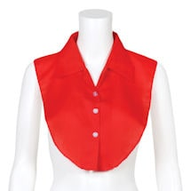 Button Up Dickey Set of 2 ( Red & White)